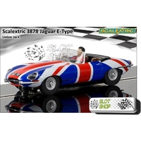 Scalextric C3878 Jaguar E Type (Union Jack)