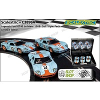 Scalextric C3896A Ford GT40 Le Mans 1968 Triple Pack