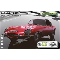 Scalextric C4032 Jaguar E-Type - Red 848 CRY