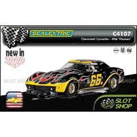 Scalextric C4107 - Chevrolet Corvette - No. 66 'Flames'