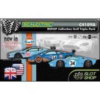 Scalextric C4109A - ROFGO Collection Gulf Triple Pack