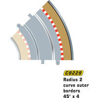 Scalextric C8228 Radius 2 45° Outer Borders