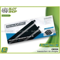 Scalextric C8554 Extension Pack 5 (8 x Straights)