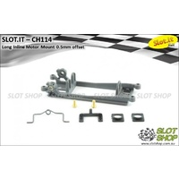 Slot.it CH114 Motor Mount (Long Inline - 0.5mm Offset - Hard)