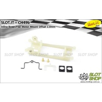 Slot.it CH49b Motor Mount (Long Inline - 1.0mm Offset - Hard)