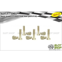 Slot.it CH51 Metric Brass Screws - Small Head (2.2 x 8mm)