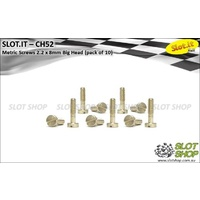 Slot.it CH52 Metric Brass Screws - Big Head (2.2 x 8mm)