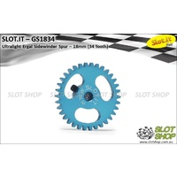 Slot.it GS1834 34 Tooth Sidewinder Spur Gear (18mm)