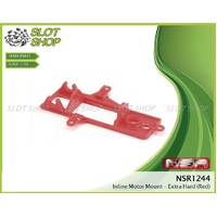 NSR 1244 Inline Motor Mount - extra hard (Red)