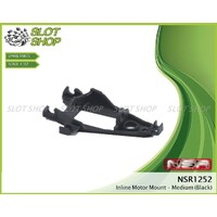 NSR 1252 Inline Motor Mount - medium (Black)