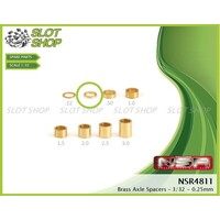 NSR 4811 Axle Spacers for 3/32 Axles (0.25mm)