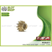 NSR 6811 Brass Inline Pinions (11 Tooth)