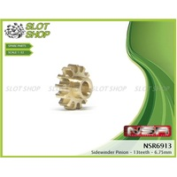 NSR 6913 Brass Sidewinder Pinions (13 Tooth)
