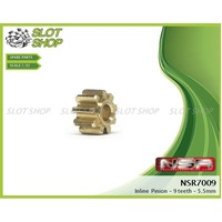 NSR 7009 Brass Inline Pinions (9 Tooth)
