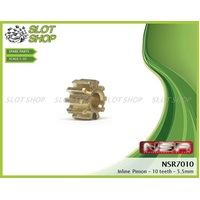 NSR 7010 Brass Inline Pinions (10 Tooth)