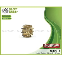 NSR 7011 Brass Inline Pinions (11 Tooth)