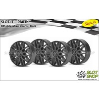 Slot.it PA03b BBS Style Wheel Inserts (Black)