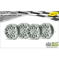 Slot.it PA03s BBS Style Wheel Inserts (Silver)