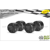 Slot.it PA13b BBS Style Wheel Inserts - F1 (Black)