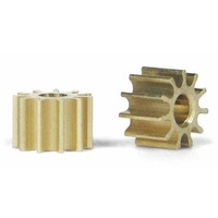Slot.it PI10 10 Tooth Inline Brass Pinion (5.5mm)