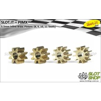 Slot.it PIMX Inline Brass Pinions - 5.5mm (8, 9, 10, 11 Tooth)