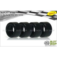 Slot.it PT03 S1 Slick Racing Tyres (20 x 11mm)