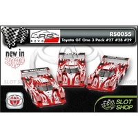 Revo Slot RS0055 Toyota GT One Triple Pack #27, #28 & #29