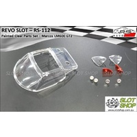 Revo Slot RS-112 Painted Clear Parts Set - Marcos