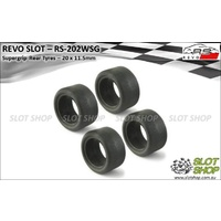 Revo Slot RS-202WSG Supergrip Rear Tyres (20 x 11.5mm)