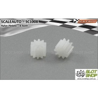 Scaleauto SC1008 Nylon Pinions for 2mm Shaft (8 Tooth)