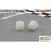 Scaleauto SC1011 Nylon Pinions for 2mm Shaft (11 Tooth)