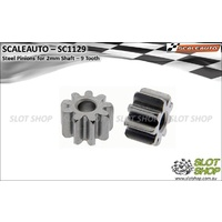 Scaleauto SC1129 Steel Pinions for 2mm Shaft (9 Tooth)