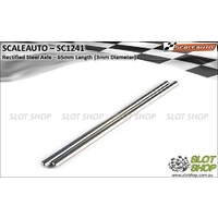 Scaleauto SC1241 Rectified 3mm Steel Axles (65mm Length)