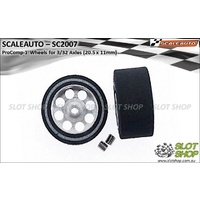 Scaleauto SC2007 ProComp-1 Wheels for 3/32 Axles (20.5 x 11mm)