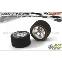 Scaleauto SC2012 ProComp-3 Wheels for 3mm Axles (20.5 x 11mm)