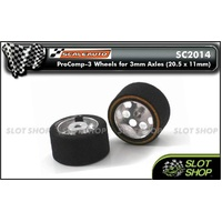 Scaleauto SC2014 ProComp-3 Wheels for 3mm Axles (20.5 x 11mm)