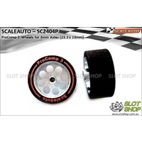 Scaleauto SC2404P ProComp-3 Wheels for 3mm Axles (23.5 x 13mm)