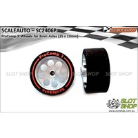 Scaleauto SC2406P ProComp-3 Wheels for 3mm Axles (25 x 13mm)