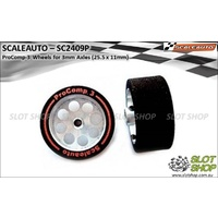 Scaleauto SC2409P ProComp-3 Wheels for 3mm Axles (25.5 x 11mm)