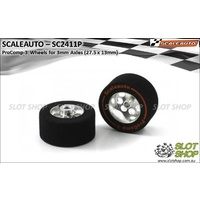 Scaleauto SC2411P ProComp-3 Wheels for 3mm Axles (27.5 x 13mm)