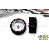 Scaleauto SC2419P ProComp-3 Wheels for 3mm Axles (25.5 x 11mm)