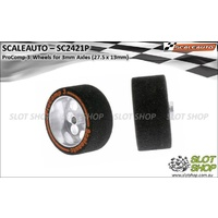 Scaleauto SC2421P ProComp-3 Wheels for 3mm Axles (27.5 x 13mm)