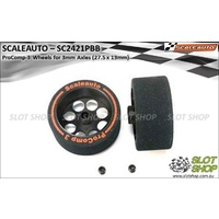 Scaleauto SC2421PBB ProComp-3 Wheels for 3mm Axles (27.5 x 13mm)