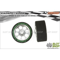 Scaleauto SC2521P ProComp-4 Wheels for 3mm Axles (27.5 x 13mm)