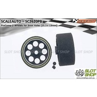 Scaleauto SC2620PB ProComp-2 Wheels for 3mm Axles (25.5 x 13mm)
