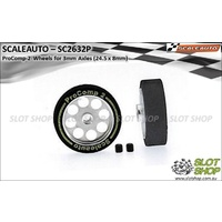 Scaleauto SC2632P ProComp-2 Wheels for 3mm Axles (24.5 x 8mm)