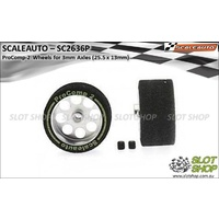 Scaleauto SC2636P ProComp-2 Wheels for 3mm Axles (25.5 x 13mm)