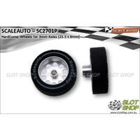 Scaleauto SC2701P HardComp Wheels for 3mm Axles (25.5 x 8mm)