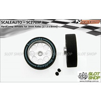 Scaleauto SC2709P HardComp Wheels for 3 mm Axles