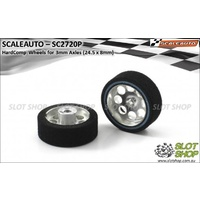 Scaleauto SC2720P HardComp Wheels for 3mm Axles (24.5 x 8mm)